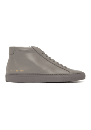 Common Projects Grey Achilles Mid Sneakers