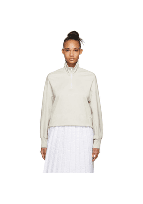 Y-3 Off-White Stacked Logo Half-Zip Sweater