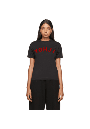 Y-3 Black and Red Yohji Letters T-Shirt
