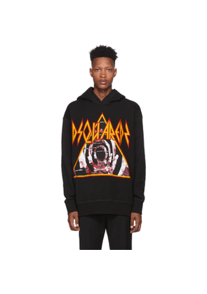 Dsquared2 Black Slouch Fit Hoodie