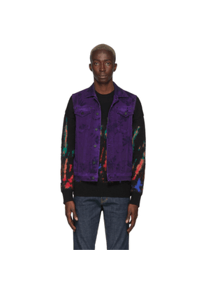 Dsquared2 Purple Denim Tie-Dye Dan JJ Vest
