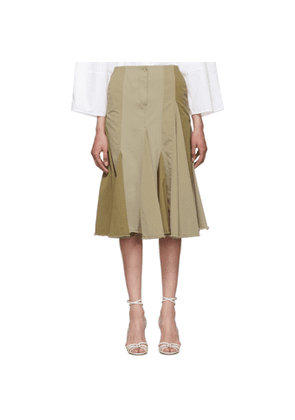 Lanvin Beige Pleated Skirt