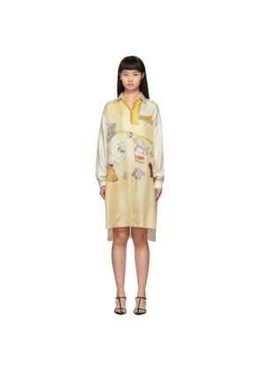 Lanvin Off-White Babar Edition Silk Shirt Dress