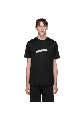 Lanvin Black Bar Logo T-Shirt
