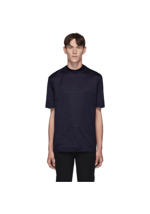 Lanvin Blue High Collar T-Shirt