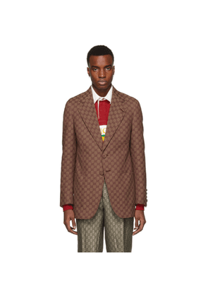 Gucci Red GG Canvas Blazer