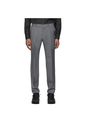 Z Zegna Grey Formal Banded Drawstring Trousers