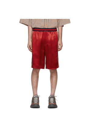 Gucci Red Silk Basketball Shorts