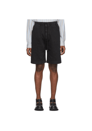 Gucci Black Denim Washed Oversized Shorts