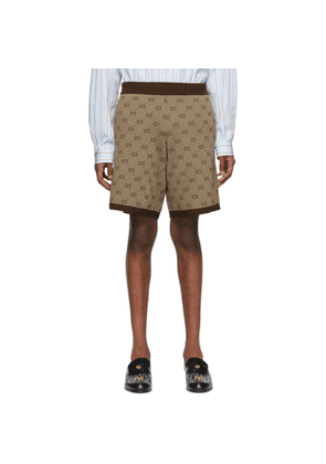 Gucci Brown Knit GG Shorts