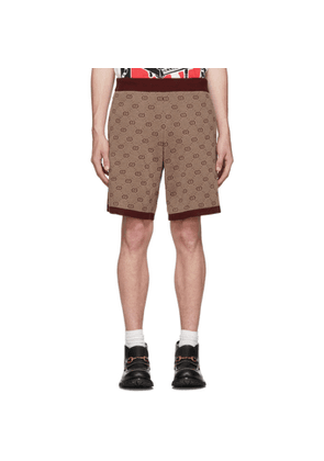 Gucci Burgundy Knit GG Shorts