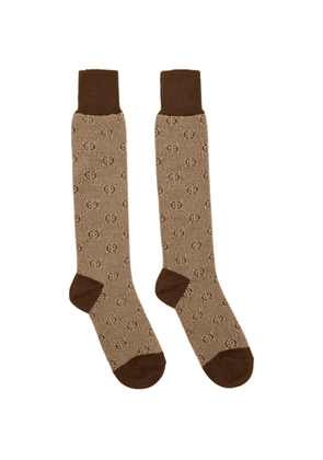 Gucci Brown GG Socks