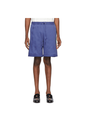 Gucci Blue Terry Logo Shorts