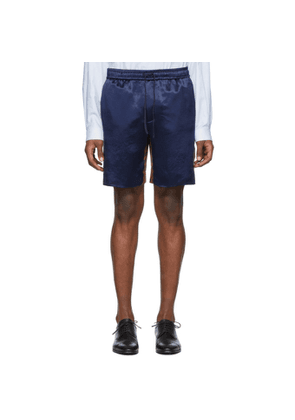 Gucci Blue Bi-Material Shorts