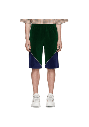 Gucci Green Velvet Shorts
