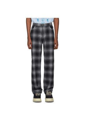Eytys Grey Tartan Benz Trousers