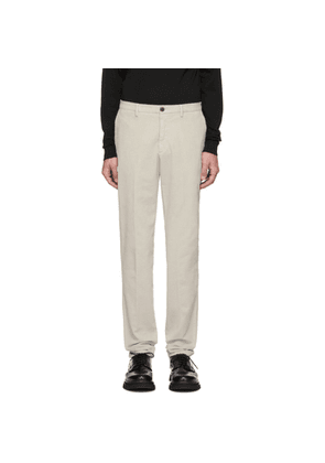 Z Zegna Off-White Corduroy Long Sport Trousers
