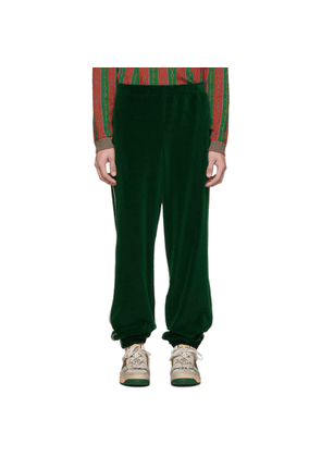 Gucci Green Velvet Lounge Pants