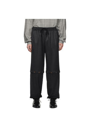 Gucci Black Convertible Snap Track Pants