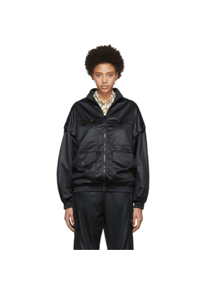 Gucci Black Convertible Bomber Jacket