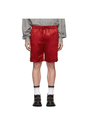 Gucci Red Chain Silk Shorts