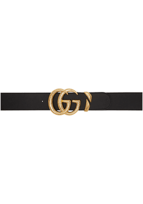 Gucci Black Oversized GG Belt