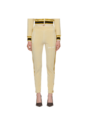 Palm Angels Off-White Chenille Slim Track Pants