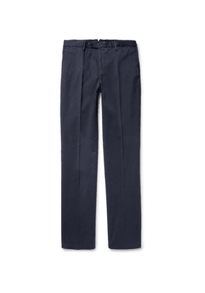 Incotex - Four Season Relaxed-fit Cotton-blend Chinos - Blue