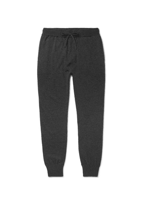 Mr P. - Slim-fit Tapered Mélange Wool And Cashmere-blend Sweatpants - Gray