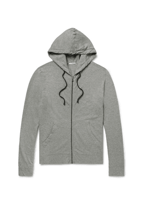 James Perse - Loopback Supima Cotton-jersey Zip-up Hoodie - Charcoal