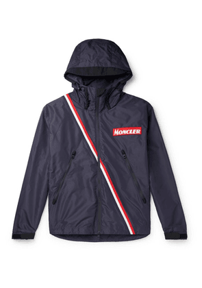 Moncler - Trakehner Striped Nylon Hooded Jacket - Navy