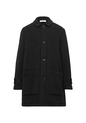 YMC - Factory Padded Garment-dyed Wool-blend Coat - Black