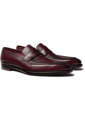 George Cleverley - George Leather Penny Loafers - Burgundy