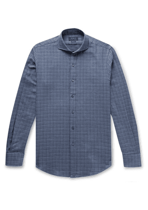Polo Ralph Lauren - Slim-fit Checked Double-faced Cotton-flannel Shirt - Blue