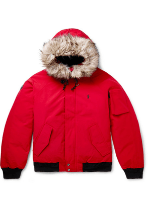 Polo Ralph Lauren - Faux Fur-trimmed Shell Hooded Down Jacket - Red