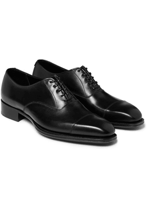 Kingsman - + George Cleverley Leather Oxford Shoes - Black