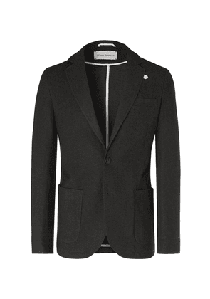 Oliver Spencer - Dark-green Theobald Unstructured Cotton And Wool-blend Blazer - Green