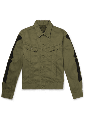 KAPITAL - Appliquéd Denim Jacket - Green