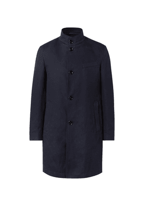 Hugo Boss - Chanty Slim-fit Textured-cotton Coat - Navy