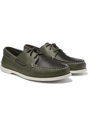 Sperry - Authentic Original Two-tone Leather Boat Shoes - Green