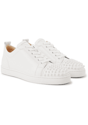 Christian Louboutin - Louis Junior Spikes Cap-toe Leather Sneakers - White