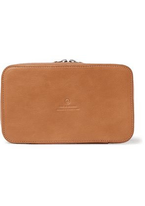 This Is Ground - Leather Tech Bag - Tan