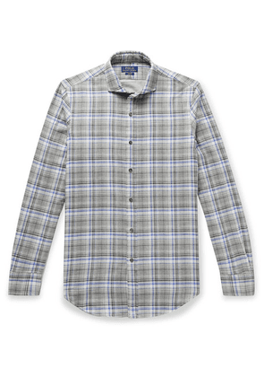 Polo Ralph Lauren - Slim-fit Checked Double-faced Cotton-flannel Shirt - Gray