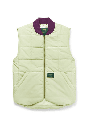 Aimé Leon Dore - + Woolrich Logo-appliquéd Quilted Padded Cotton-blend Gilet - Light green
