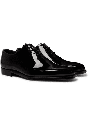 George Cleverley - James Whole-cut Patent-leather Oxford Shoes - Black