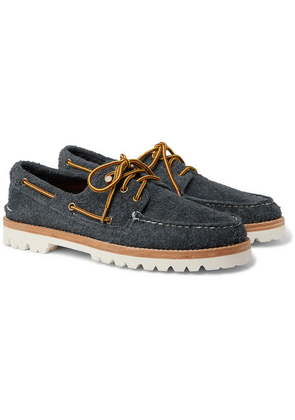 Sperry - Authentic Original Brushed-suede Boat Shoes - Gray