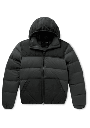Filson - Featherweight Canvas-trimmed Quilted Nylon Hooded Down Jacket - Black