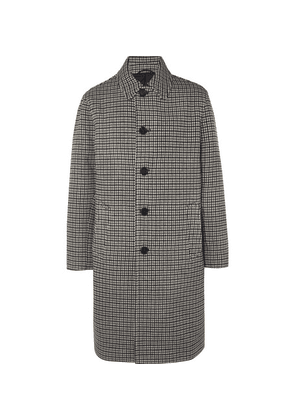 Mr P. - Checked Wool Overcoat - Black
