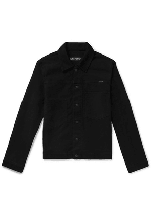 TOM FORD - Slim-fit Washed-denim Trucker Jacket - Black