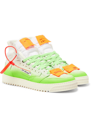 Off-White - Off-court Dégradé Leather And Canvas Sneakers - White